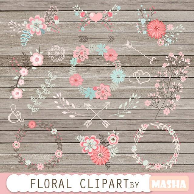 Flower Clipart Floral Clipart Wedding Flower Clipart Floral