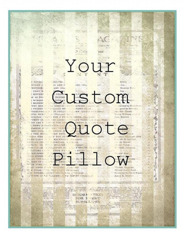 Quotes On Wedding Gift : Custom Quote Pillow Handmade Wedding Gift Bridesmaid Gift Love Quote ...