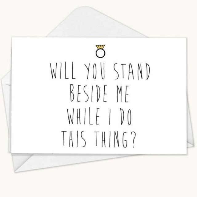 Will You Be My Bridesmaid Card, Funny Bridesmaid Card