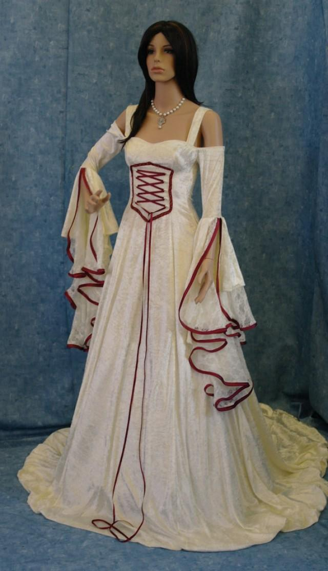 Renaissance dress medieval wedding dress handfasting for Renaissance inspired wedding dress