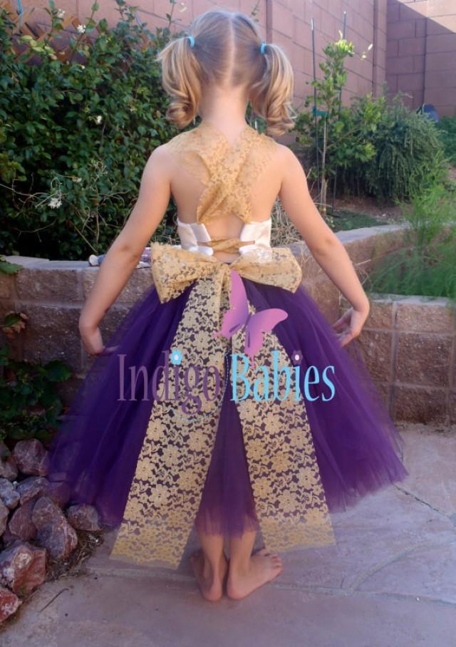 Flower Girl Dress, Weddings, Tutu Dress, Dark Purple, Plum Tutu ...