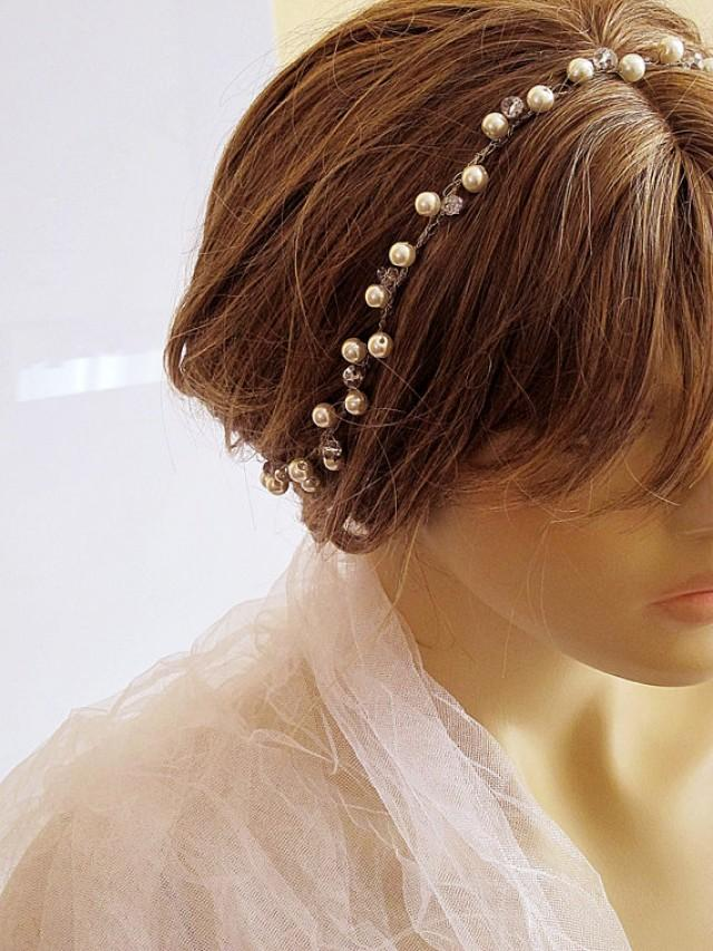 Crochet Hair Styles For Weddings : crochet-bridal-headband-wedding-headband-bridal-hair-accessory-wedding ...