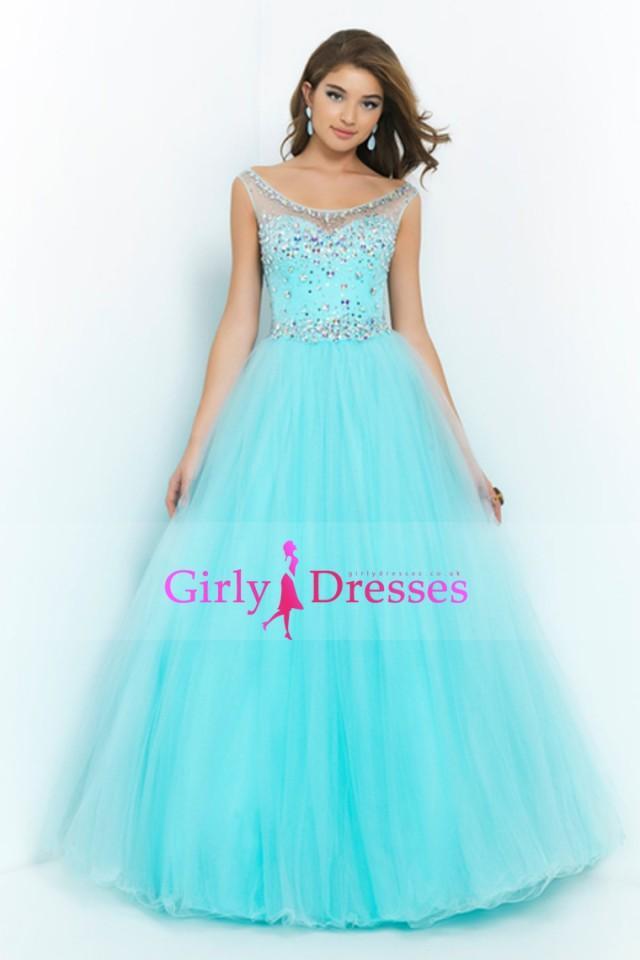 2015-big-clearance-sale-Bateau-Beaded-Bodice-A-Line-Princess-Prom ...