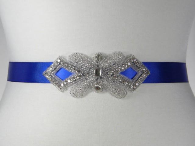 royal blue bridal sash wedding belt bridal belt sash