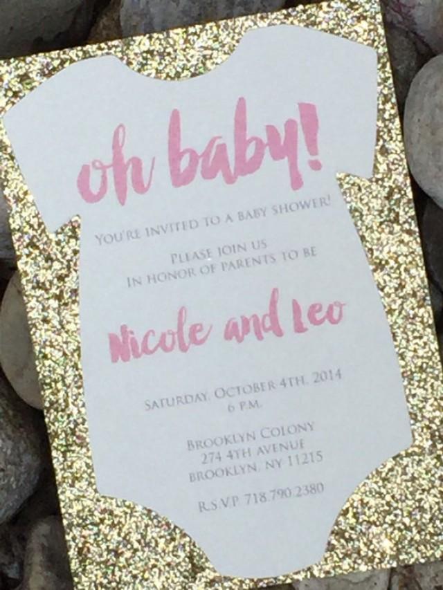 Baby Shower Invitation - 25 Glitter Baby Shower ...