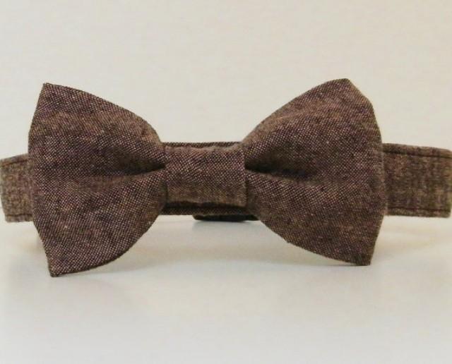 Tweed Dog Collar Bow Tie