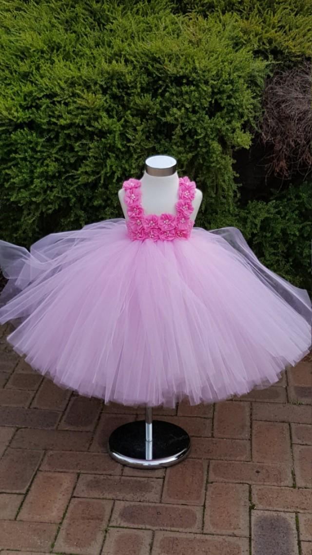 Flower Girl Dress Pink Tutu Pink Knee Length Tutu Dress