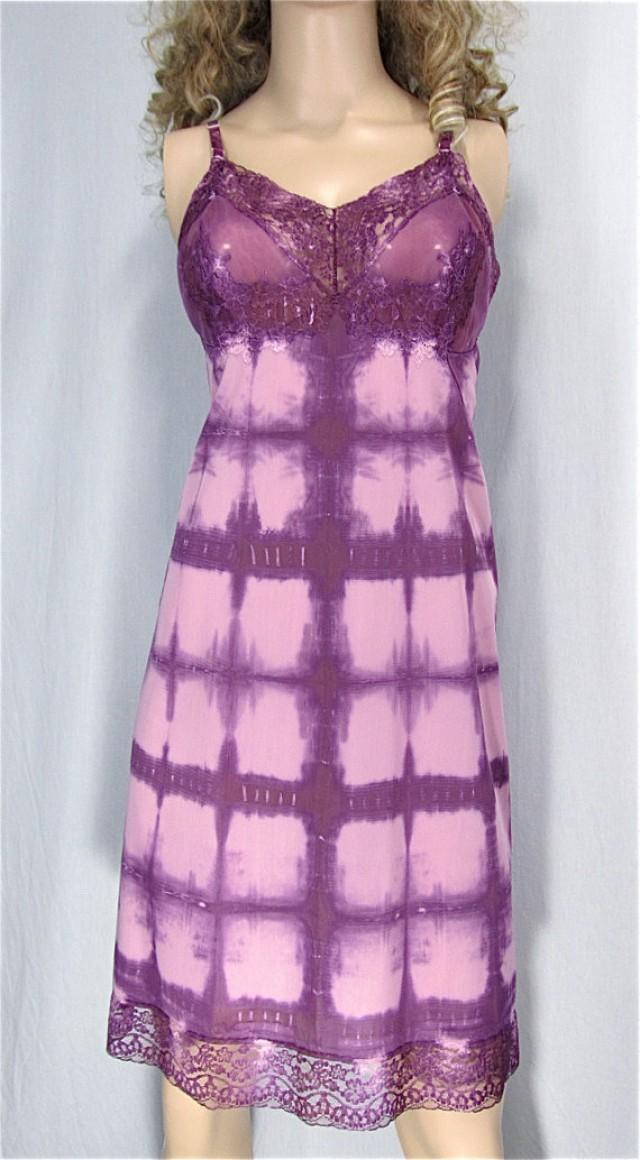 4e768f6e5da Tie Dye Slip Dress 40 Vintage Slip Upcycled Nightgown Hand Dyed Lingerie  Festival Dress Hippie Sundress Sexy Lingerie Bridal Shower Gift