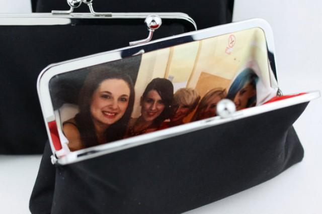 wedding photo - Personalise Your Wedding Clutches / Added a Photo to Bridesmaid Clutch