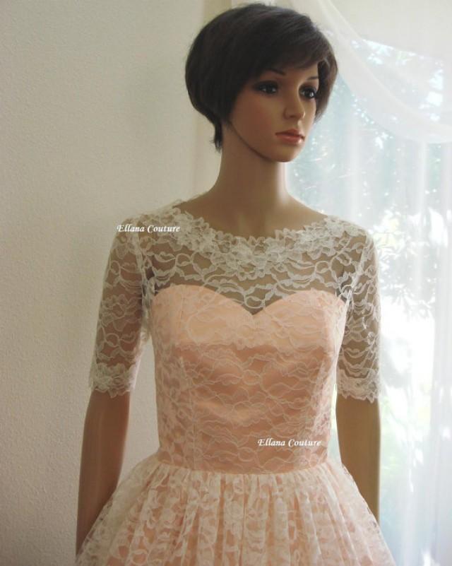 Isabella retro inspired tea length wedding dress for Vintage t length wedding dresses