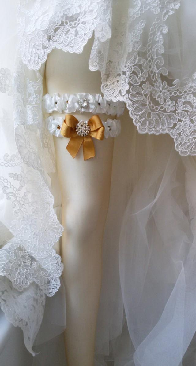 Wedding Leg Garter Bridal Garter Set Garter Rustic Wedding Garter Ivory Ribbon Garter