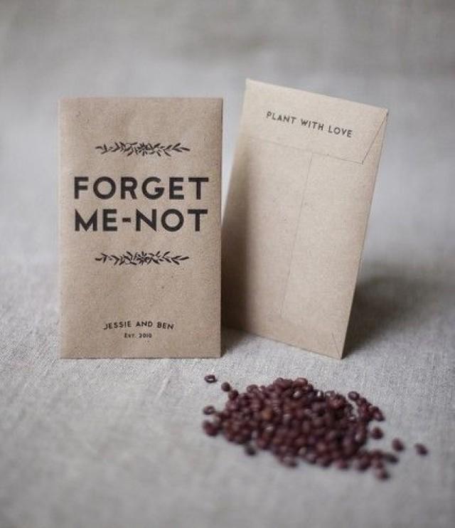 Printable Seed Pack Wedding Favors Once Wed 2326036 Weddbook