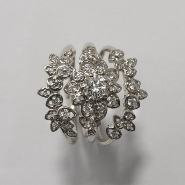 Ring Flower Ring Antique Vintage Wedding Set 2326431 Weddbook