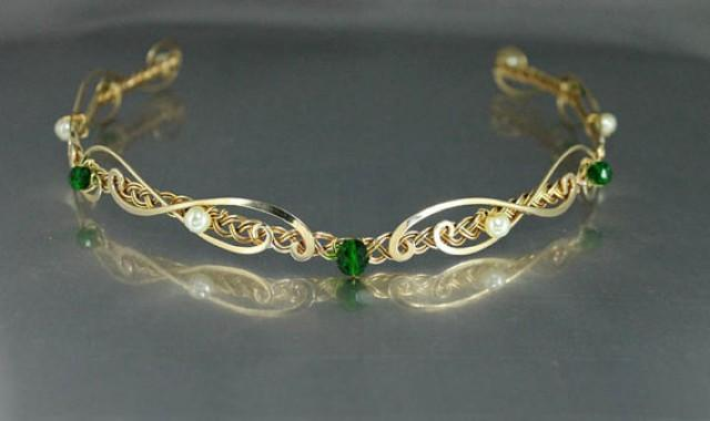 Gold Bridal Headband Celtic Bridal Headpiece Celtic ...
