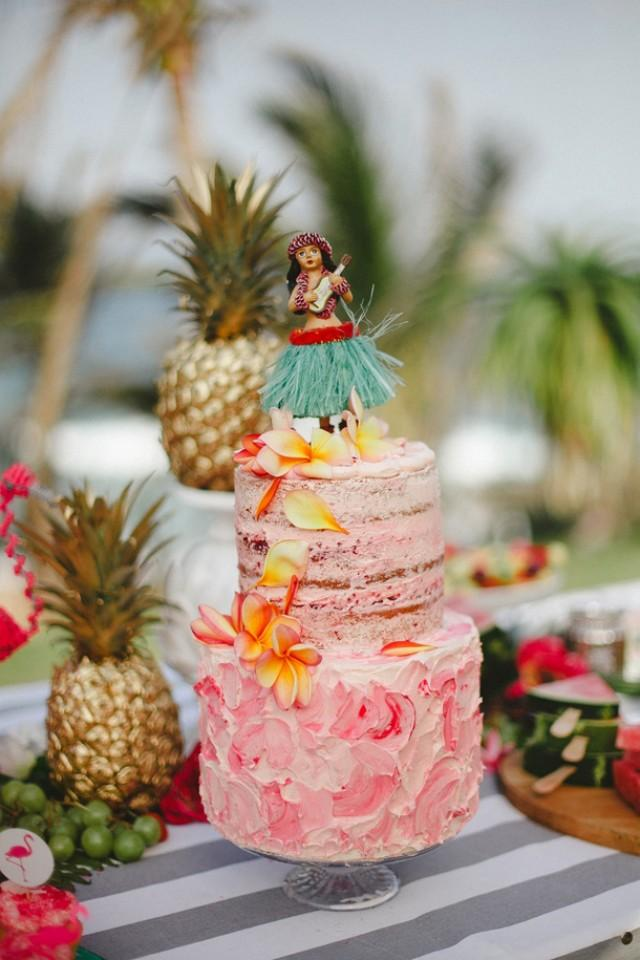 tropical bridal shower by oh happy day southbound bride weddbook