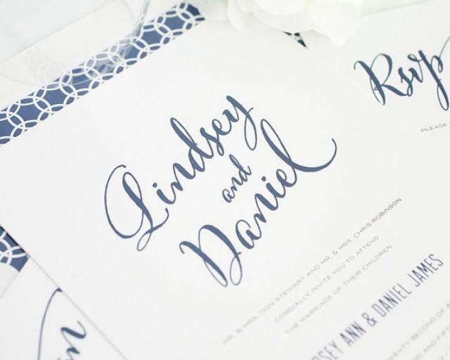 Modern Wedding Invitation Script Calligraphy City