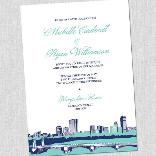 bold boston wedding invitation set sample set 2328402 weddbook