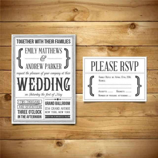 Printable Wedding Invitation RSVP Templates