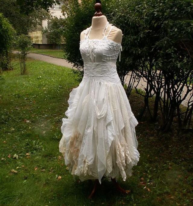 Cream Ivory Off White Fairy Dress Upcycled Wedding Dress Grown ...