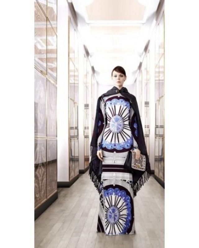 wedding photo - EMILIO PUCCI Printed Silk Jersey Long Sleeves Maxi Dress 35e763c49