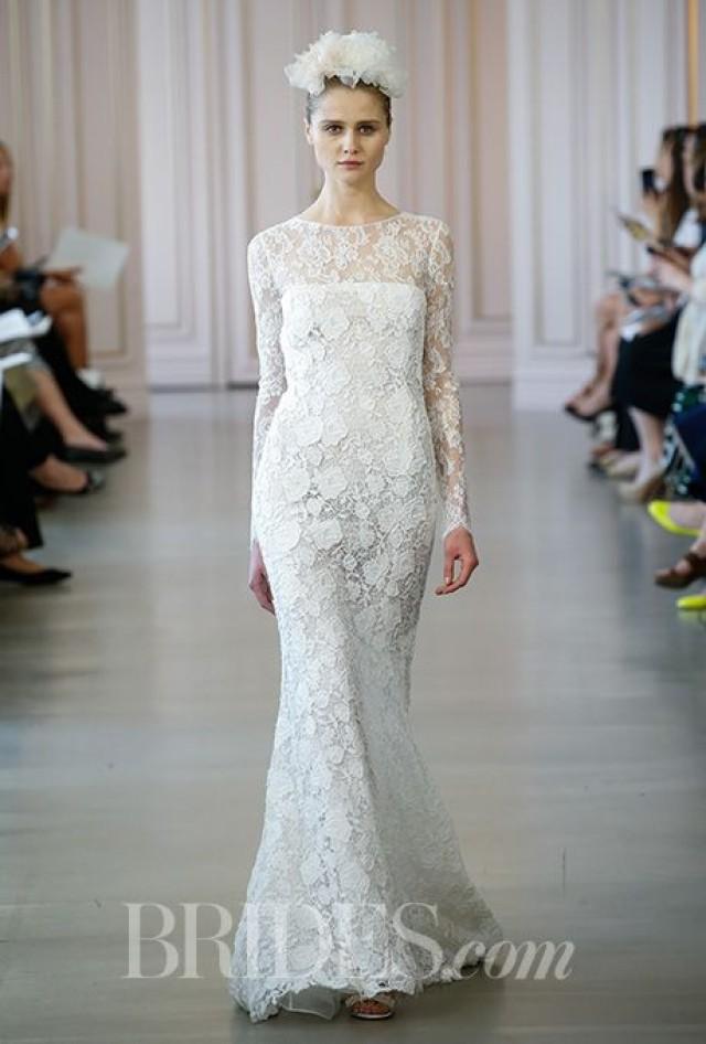 Oscar de la renta wedding dresses spring 2016 bridal for Oscar de la renta lace wedding dress