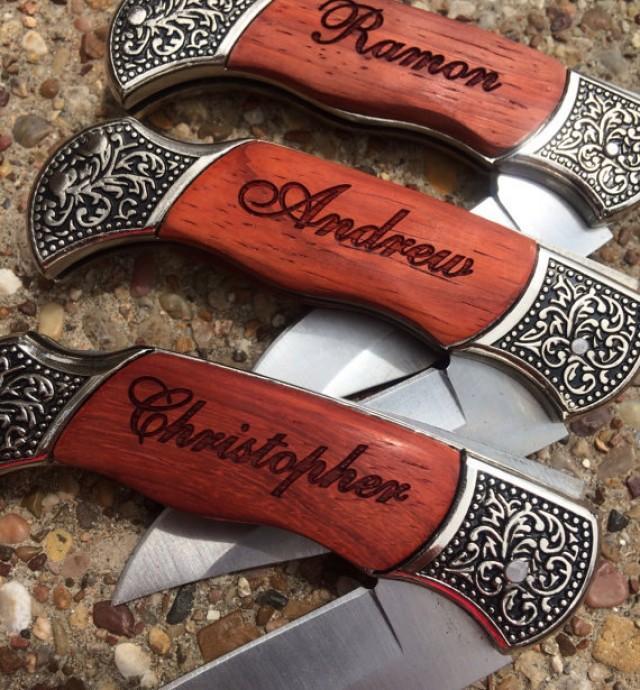 Wedding Gift Ideas For Men: 6 Personalized Knives, Custom Engraved Groomsmen Gift