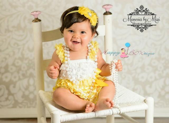 wedding photo - Sunny yellow Chevron Petti Dress, ruffle dress, baby dress, girls dress, Birthday outfit, girls outfit, flower girl dress, Chevron dress