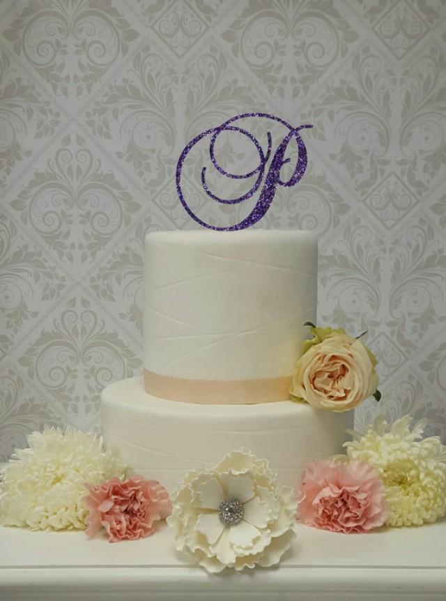 wedding photo - MATCH To Your COLOR THEME Custom Purple Glitter Acrylic Cake Topper Wedding Cake Topper Sweet Sixteen Cake Topper Sparkly Cake Topper