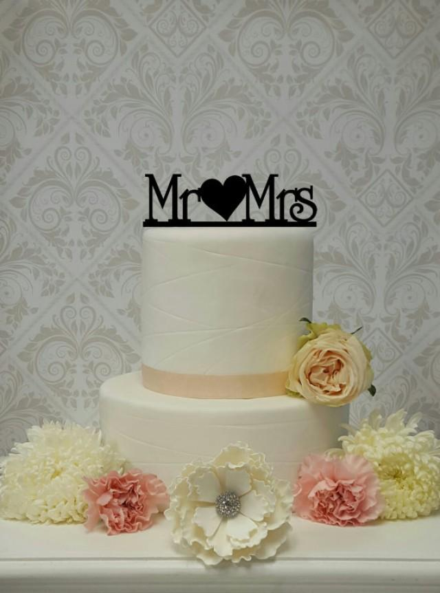 wedding photo - Mr and Mrs Heart Cake Topper Wedding Cake Topper Mr and Mrs Mr and Mr Mrs and Mrs