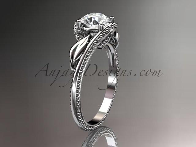 Unique white gold rings