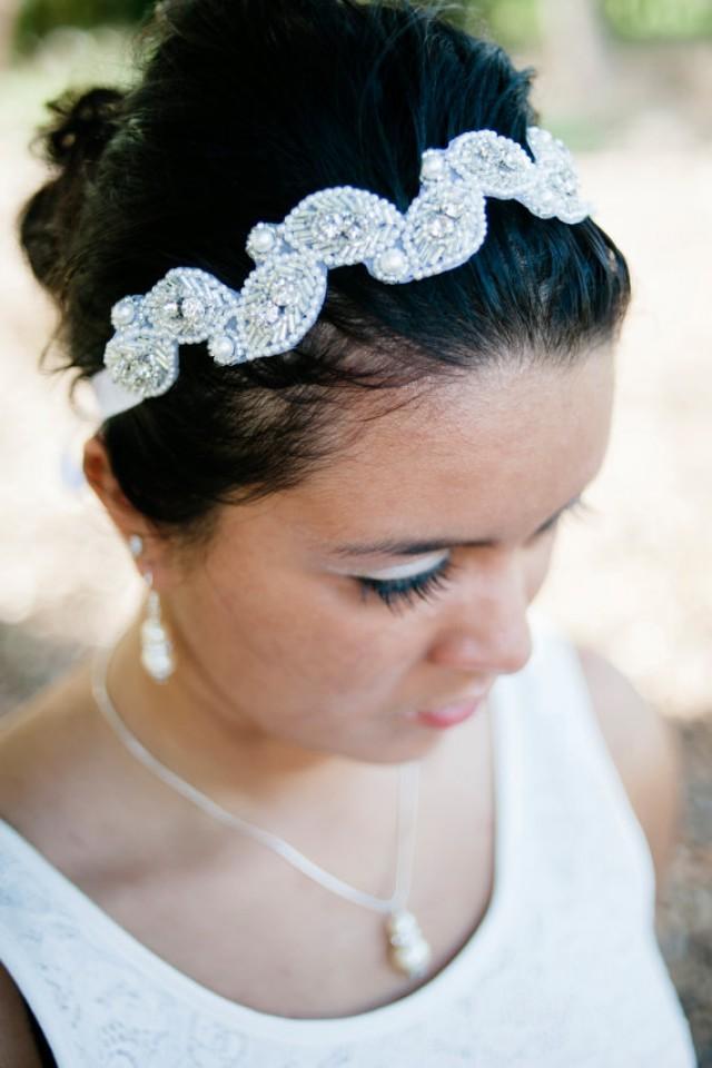 Wedding Hair With Rhinestone Headband : Headband bridal rhinestone wedding hair