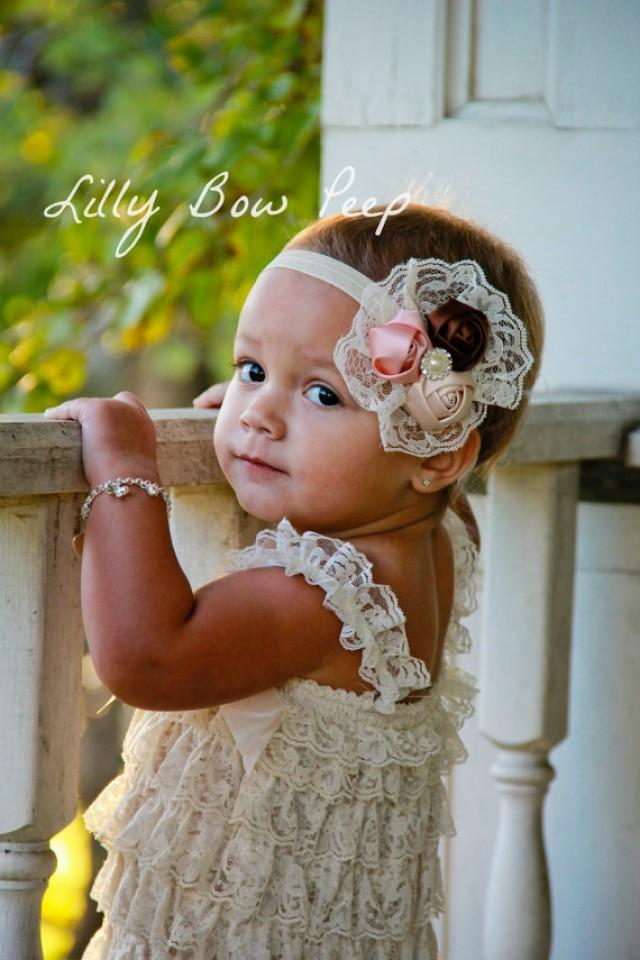 SET Baby Girl Clothes Newborn Girl Clothes Ivory Lace