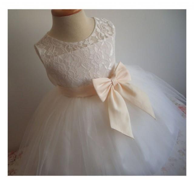 437e679c0 Flower Girl Dress Little Baby Girl Baptism Dress Tulle TuTu Infant Toddler  Pageant Birthday Party Christening Junior Wedding
