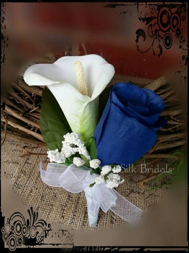 Wedding Flowers Boutonniere Rose Boutonniere Groom Groomsman Father Bridal Silk Wedding Flowers