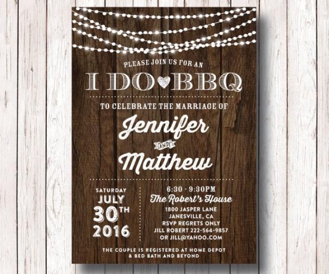 I Do Bbq Wedding Reception Invitation I Do Bbq Couples Shower Couples Bridal Shower Barbeque