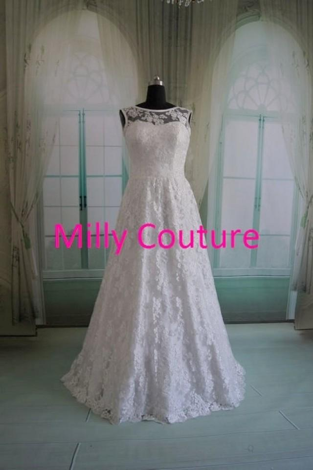 Carol cheap vintage lace wedding dress affordable lace for Cheap vintage style wedding dresses