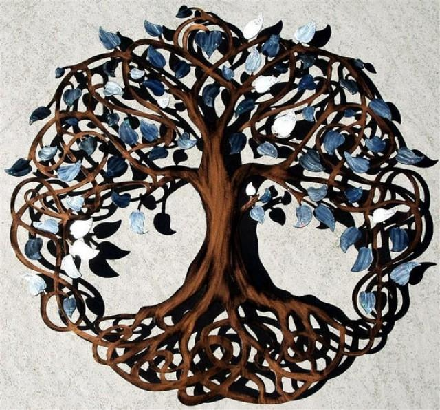 White Pearl With Sparkle Tips Tree Of Life Infinity Tree Wall Decor Wall  Art #2335767 - Weddbook