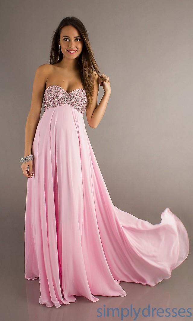 wedding photo - Terrific Strapless A-line Chiffon Prom Gown AL-A6028