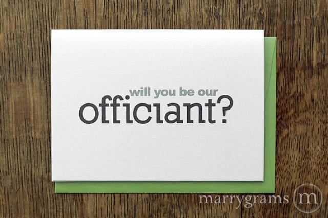 Wedding Card To Ask OfficiantWill You Be Our Officiant Card ...