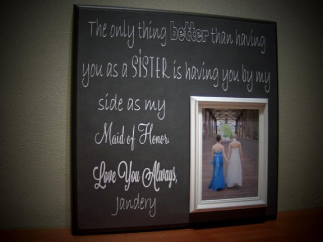 Sisters Wedding Picture Frame, Maid Of Honor, Bridesmaid