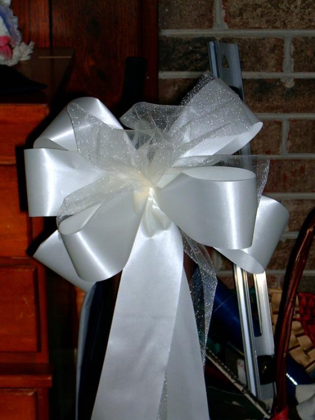 10 florist ready ivory pew bows wedding decorations bridal