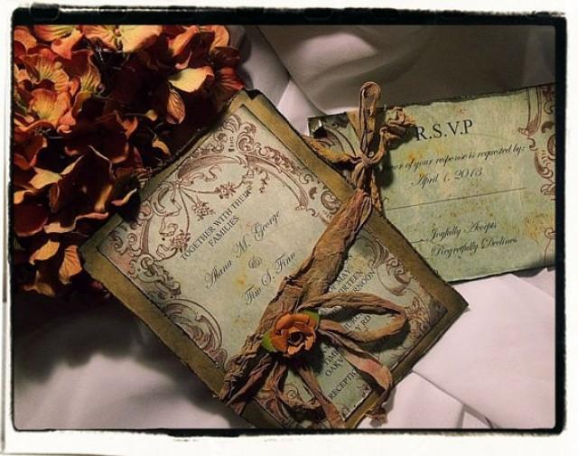 Tuscan Themed Wedding Invitations: Tuscany Vintage Wedding Invitation #2337156
