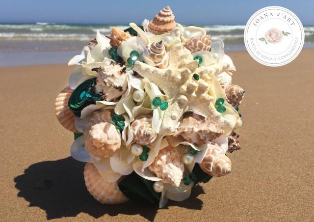 wedding photo - ramo boda en la playa