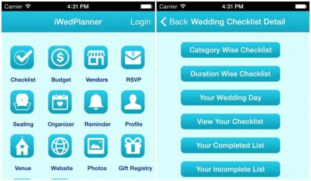 The Wedding Planning Mobile App With Complete Check List ...