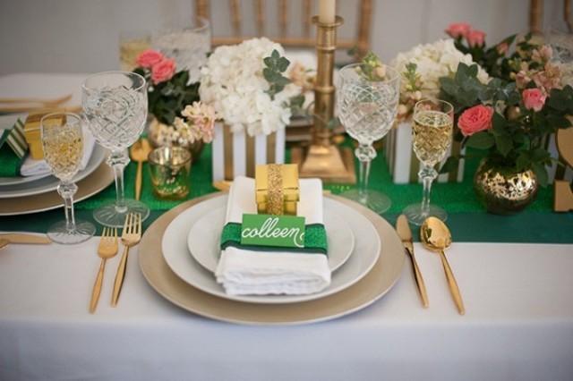 Emerald Amp Gold Wedding Inspiration Weddbook