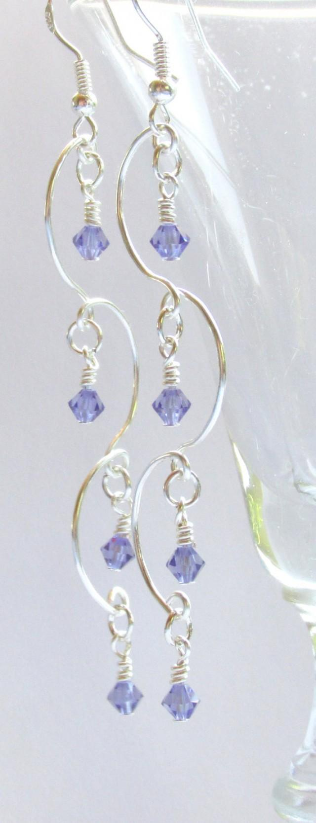 Chandelier Earrings, Tanzanite Beaded Earrings, Purple & Silver Earrings,  Prom 2015, Bridal Jewelry, Bridesmaid Gift, Birthstone Jewelry #2337652   Weddbook