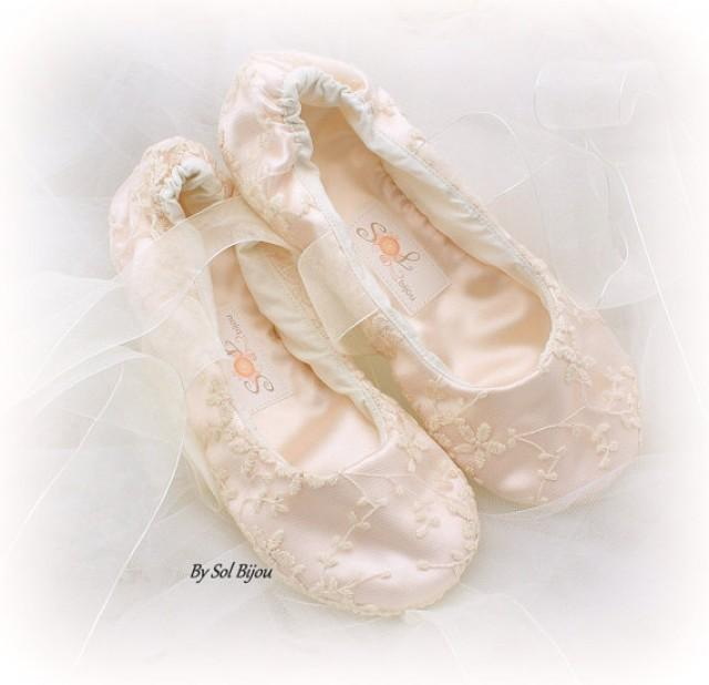 Wedding Ballerina Shoes Ivory