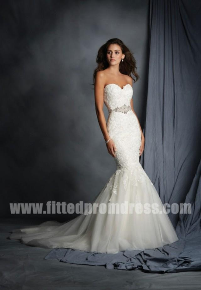 alfred angelo 2526 cascading lace wedding gowns 2337944 weddbook. Black Bedroom Furniture Sets. Home Design Ideas