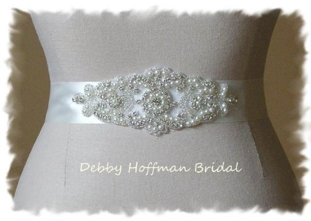 Bridal Belt Pearl Bridal Sash Pearl Wedding Dress Belt