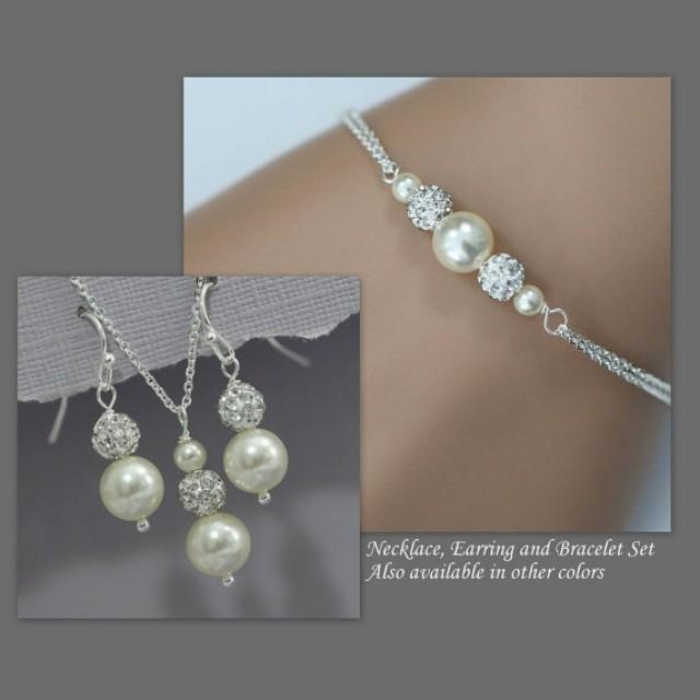 choose your colors swarovski ivory pearl necklace